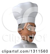 Clipart Of A 3d Avatar Of A Young Black Male Chef Facing Right Royalty Free Illustration