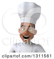 Clipart Of A 3d Avatar Of A Young Black Male Chef 2 Royalty Free Illustration