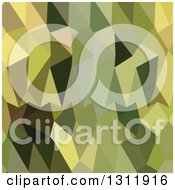 Clipart Of A Low Poly Abstract Geometric Background Of Dark Green Khaki Royalty Free Vector Illustration