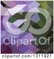 Clipart Of A Low Poly Abstract Geometric Background Of Palatinate Purple Royalty Free Vector Illustration