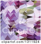 Low Poly Abstract Geometric Background Of Floral Lavender