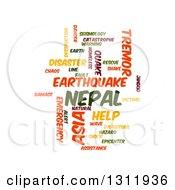 Clipart Of A Nepal Earthquake Word Tag Collage On White 2 Royalty Free Vector Illustration