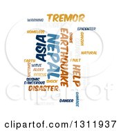 Clipart Of A Nepal Earthquake Word Tag Collage On White 3 Royalty Free Vector Illustration