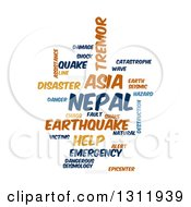 Clipart Of A Nepal Earthquake Word Tag Collage On White 4 Royalty Free Vector Illustration