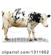 Clipart Of A 3d Dairy Cow Royalty Free Vector Illustration by dero