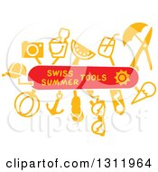 Clipart Of A Swiss Army Knife With Summer Tools Royalty Free Vector Illustration
