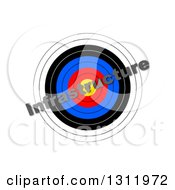 Clipart Of A 3d Target With Diagonal INFRASTRUCTURE Text Over It On White Royalty Free Illustration by oboy