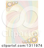 Clipart Of A Colorful Funky Swirl And Rings Background Royalty Free Vector Illustration