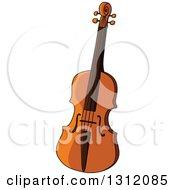 Clipart Of A Cartoon Violin Royalty Free Vector Illustration