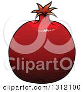 Clipart Of A Cartoon Pomegranate Fruit Royalty Free Vector Illustration by Vector Tradition SM