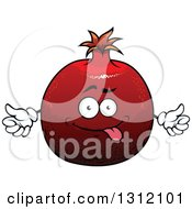 Clipart Of A Cartoon Goofy Pomegranate Character Royalty Free Vector Illustration by Vector Tradition SM