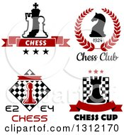 Clipart Of Chess Piece Designs With Text Royalty Free Vector Illustration by Vector Tradition SM
