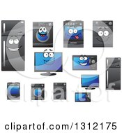 Clipart Of Household Appliances And Characters Royalty Free Vector Illustration