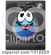 Clipart Of A Happy Front Loader Washing Machine Character Royalty Free Vector Illustration by Vector Tradition SM