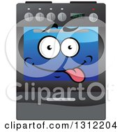 Clipart Of A Goofy Oven Range Character Royalty Free Vector Illustration by Vector Tradition SM