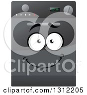 Clipart Of A Happy Dishwasher Character Royalty Free Vector Illustration