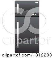 Clipart Of A Black Refrigerator Royalty Free Vector Illustration