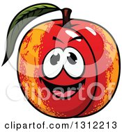 Clipart Of A Cartoon Apricot Character Royalty Free Vector Illustration