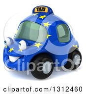Clipart Of A 3d European Taxi Cab Character Facing Left Royalty Free Illustration by Julos