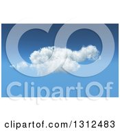 Clipart Of A 3d Feathery Cloud In A Blue Sky Royalty Free Illustration