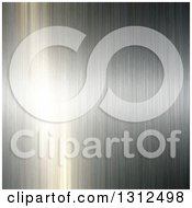 Clipart Of A Background Of Brushed Metal Reflecting Light Royalty Free Vector Illustration
