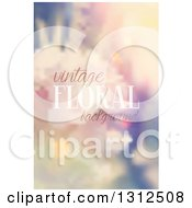 Blurred Vintage Floral Background With Sample Text