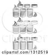 Clipart Of Food Cans In Color And Black And White Royalty Free Vector Illustration by Liron Peer
