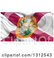 Clipart Of A 3d Rippling State Flag Of Florida USA Royalty Free Illustration
