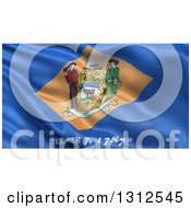 Clipart Of A 3d Rippling State Flag Of Delaware USA Royalty Free Illustration by stockillustrations