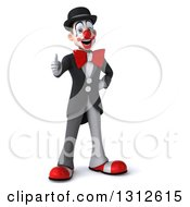 3d White And Black Clown Giving A Thumb Up