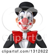 Clipart Of A 3d Avatar Of A White And Black Clown 2 Royalty Free Illustration