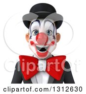 Clipart Of A 3d Avatar Of A White And Black Clown Royalty Free Illustration