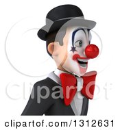 Clipart Of A 3d Avatar Of A White And Black Clown Facing Right Royalty Free Illustration