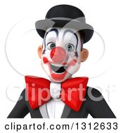 Clipart Of A 3d Avatar Of A White And Black Clown 3 Royalty Free Illustration