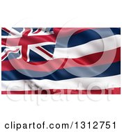 Clipart Of A 3d Rippling State Flag Of Hawaii USA Royalty Free Illustration