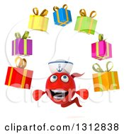 3d Red Sailor Fish Juggling Gifts