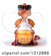 Clipart Of A 3d Casual Red Dragon Wearing A T Shirt And Sunglasses Royalty Free Illustration