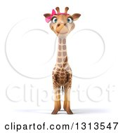 Clipart Of A 3d Female Giraffe Royalty Free Illustration
