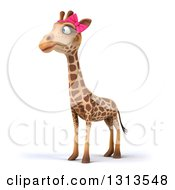 Clipart Of A 3d Female Giraffe Facing Slightly Left Royalty Free Illustration by Julos