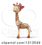 Clipart Of A 3d Female Giraffe Facing Left And Looking At Viewer Royalty Free Illustration by Julos