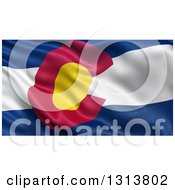 Clipart Of A 3d Rippling State Flag Of Colorado USA Royalty Free Illustration