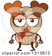 Clipart Of A Cartoon Indifferent Brown Dog Character Royalty Free Vector Illustration