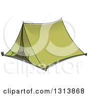 Clipart Of A Cartoon Green Tent 2 Royalty Free Vector Illustration by Vector Tradition SM