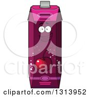 Clipart Of A Happy Cherry Juice Carton 4 Royalty Free Vector Illustration