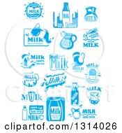 Clipart Of Blue And White Milk Designs 5 Royalty Free Vector Illustration by Vector Tradition SM