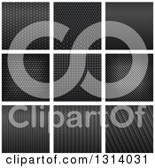 Clipart Of Backgrounds Of Metal And Carbon Fiber Textures Royalty Free Vector Illustration