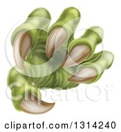 Clipart Of A 3d Green Monster Claw With Sharp Talons Royalty Free Vector Illustration by AtStockIllustration