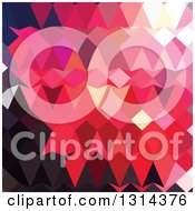 Clipart Of A Low Poly Abstract Geometric Background Of Alizaran Crimson Royalty Free Vector Illustration