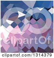 Clipart Of A Low Poly Abstract Geometric Background Of Celestial Blue Royalty Free Vector Illustration