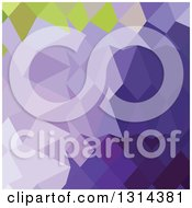 Clipart Of A Low Poly Abstract Geometric Background Of Cyber Grape Purple Royalty Free Vector Illustration